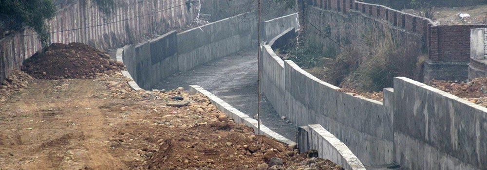 19 kms Major Storm Water Drain for Jammu City