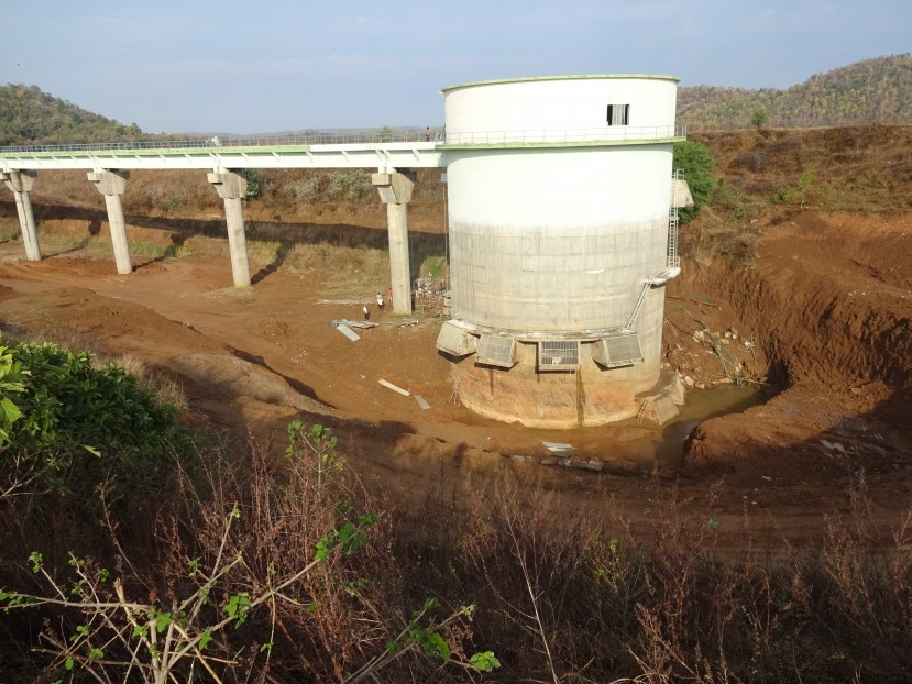 630 MLD Intake and pipe bridge for Nagpur Project