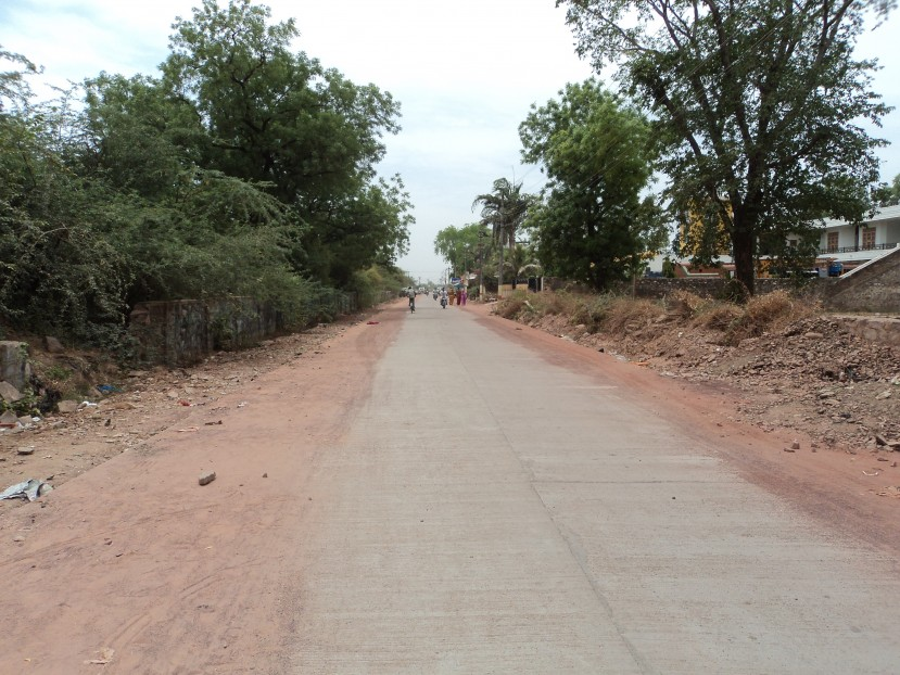 Street improvement works in Baran