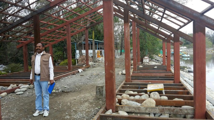 Tourist Cottages under construction at Assan Barrage