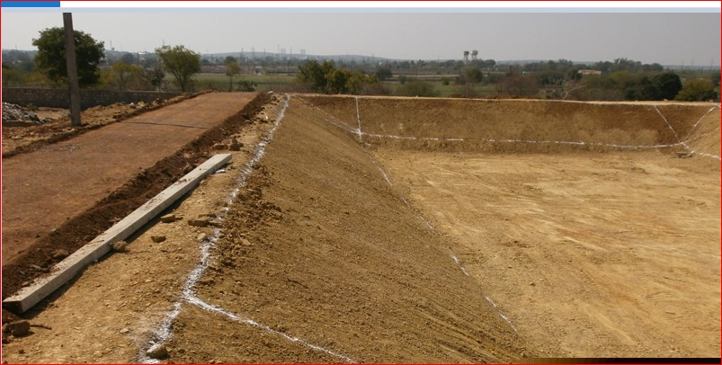 Landfill site in Jhalawar under construction