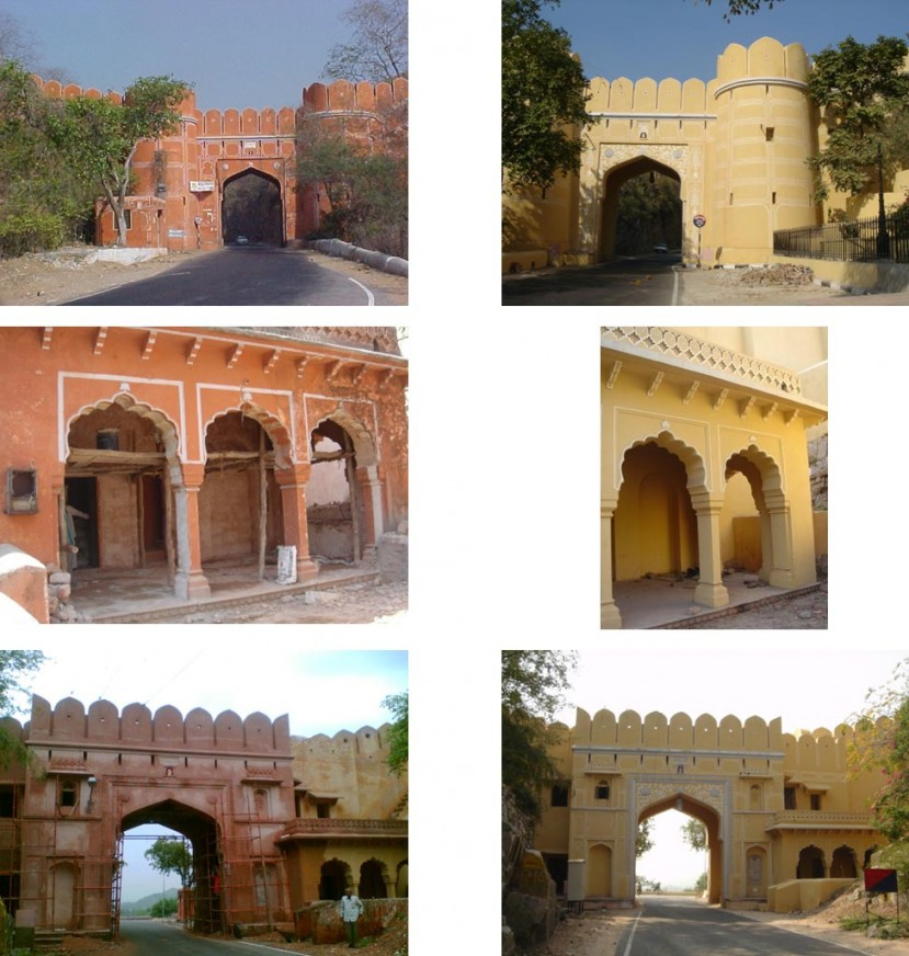 Ghati Gate Amer before and after