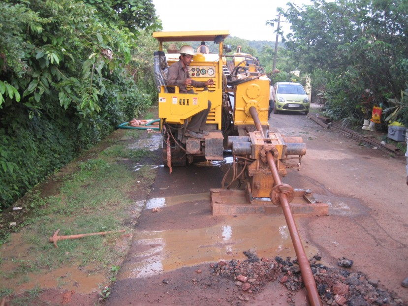 Sewer laying by trenchless method (HDD ) in Goa