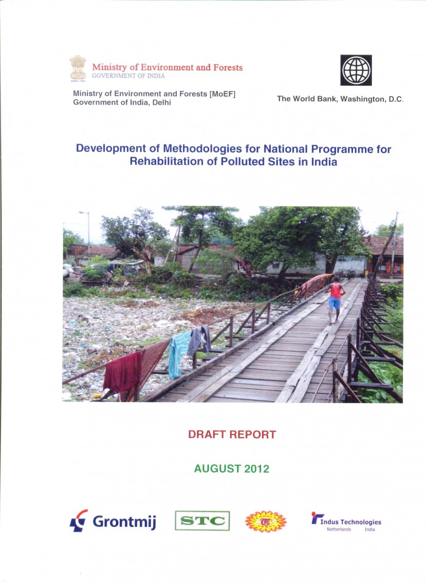 Cover Page of Draft report submitted to the Ministry
