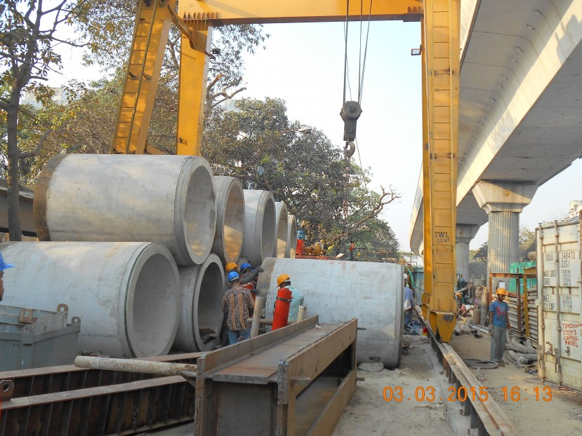 Laying of Large Diameter Sewers in Kolkata by Trenchless Method