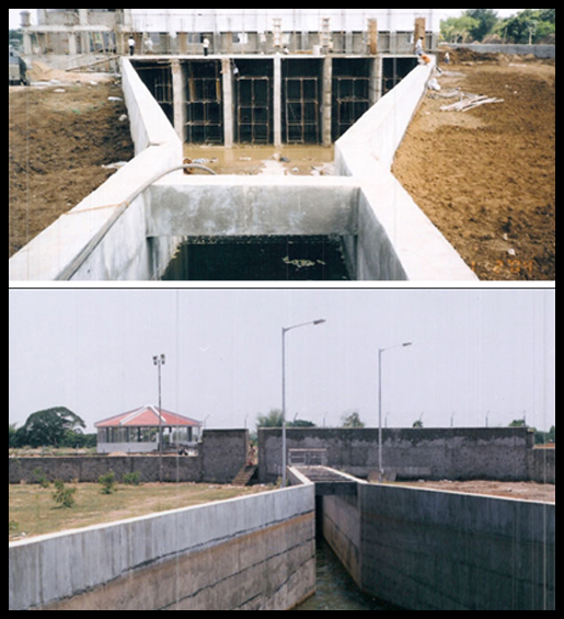 Water supplly Intake Channel Veeranam Project