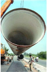 Water supply Sleeve Joint pipe laying for veeranam project