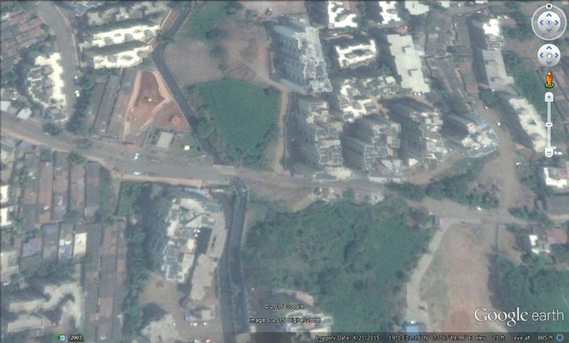 Google Earth view of Jari Mari Drain in Kalyan