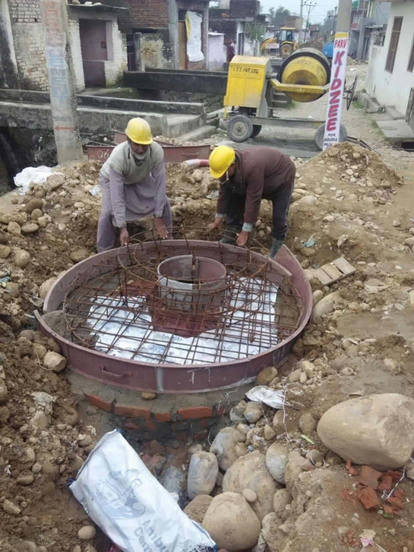 Manhole construction in Jammu