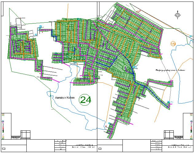 Design output for drainage scheme for Tirunelveli