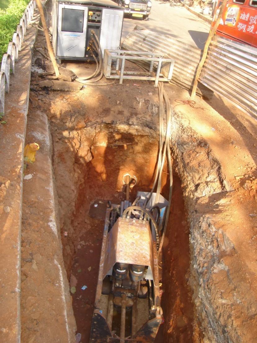 Trenchless sewer rehabilitation works in Mumbai