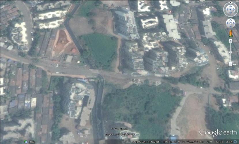 Google Earth view of Jari Mari Drain in Kalyan